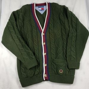 Tommy Hilfiger Cable Knit Cardigan Sweater